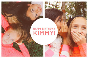 Happy Birthday Kimmy! Collage di foto di compleanno