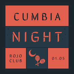 Black and Red Cumbia Night Promotion Club Party