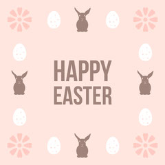 Pink Bunnies Happy Easter Instagram Square Easter