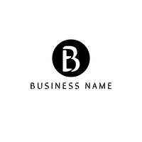 Black and White Business Logo with Letter in Circle petite entreprise