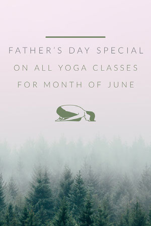 Grey and White Father's Day Special Promo Yoga Posters