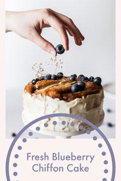 Fresh Blueberry Chiffon Cake Cakes