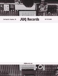 Black and White Record Label Letterhead with Recording Studio Picture Letterhead Templates