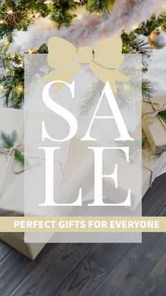 White, Bright Toned Holiday Sale Ad Instagram Story Holiday Sale