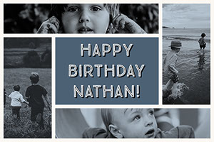 Happy Birthday Nathan! Collage fotográfico de cumpleaños