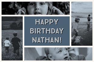 Happy Birthday Nathan! Fotocollage til fødselsdage