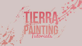 Pink and Violet Painting Tutorial Youtube Banner do YouTube