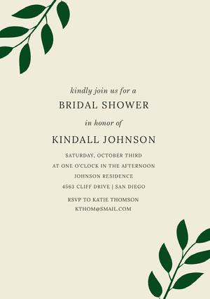 BRIDAL SHOWER <BR>KINDALL JOHNSON