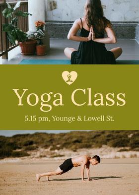 yoga class flyer Flyer