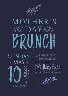 Mother's Day Brunch Flyer Brunch