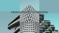 Cyan and White Architectural Design Facebook Page Cover Construction