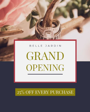 <BR>GRAND<BR>OPENING Grand Opening Flyer