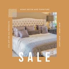Home Decor Sale Instagram Square Furniture Sale