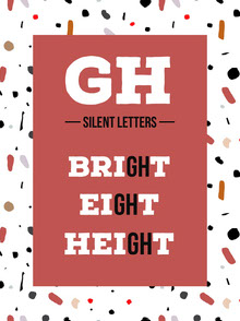 Red Silent Letters Educational Infographic Infografica