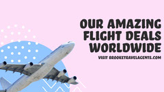 Pink & Blue Amazing Flight Deal Twitter Post Planes