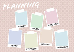 Pastel Post Its Planner A4