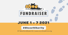 Black and Yellow Shoe Drive facebook event Fundraiser