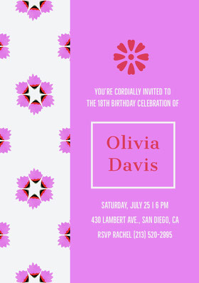 Olivia Davis  Birthday Invitation