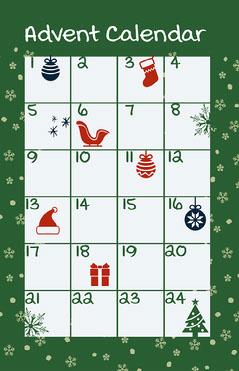 Green Advent Calendar Poster Countdown