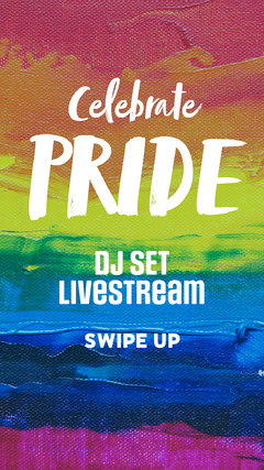 Pride Colours Paint Background Instagram Story Pride