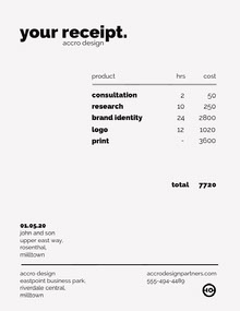 Accro Design Receipt Lettre