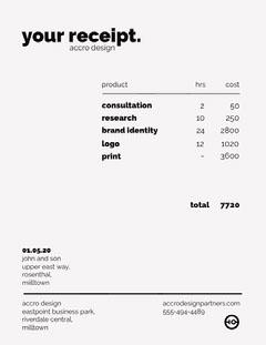 Black and White Graphic Design Business Invoice Finance