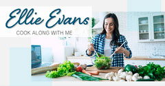 Blue & White Healthy Cook Along Instagram Landscape Cooking