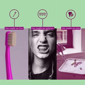 Green and Purple Dental Health Instagram Square Meme Dentist Poster