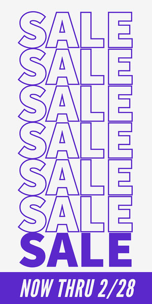 Gray and Blue Sale Vertical Banner Vertical Banner