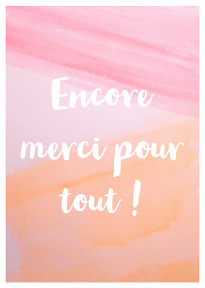 Pink Paint Thank You For Everything Card Carte de remerciement