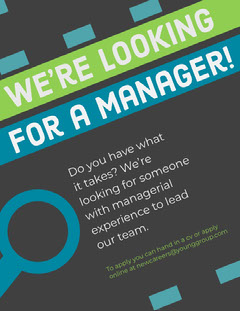 Geometric Manager Job Open Position Flyer Job Poster