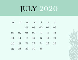 Green and Black Calendar Card jeff-test-5