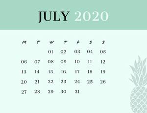 JULY 2020 Calendários