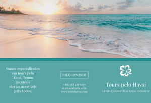 hawaii touring travel brochures  Folheto dobrável