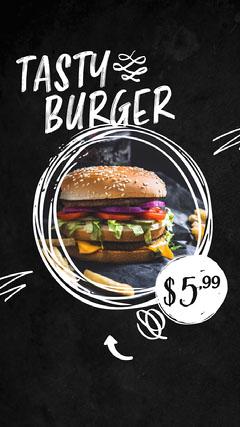 Tasty Burger Instagram Story Burger