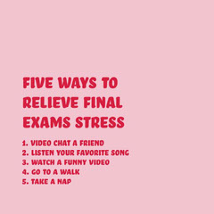 de-stress from final exams instagram  Red