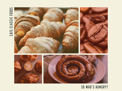 Photos With Tasty Sweet Food Collage Bakery