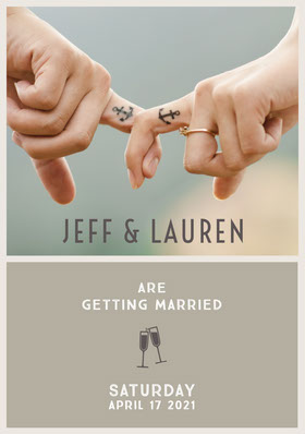 Jeff & Lauren Save the Date Card