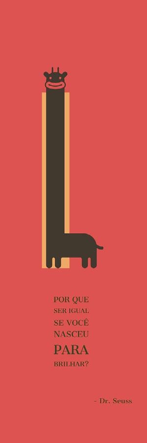 giraffe cartoon bookmarks  Marcador de livro