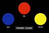 Black Primary Colors Flashcard Flashcard
