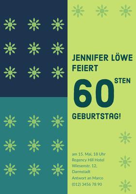 60 Einladung zum Geburtstag