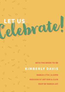 Celebrate! Convite de casamento