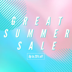 Pink Blue and White Shop Sale Instagram Graphic Summer