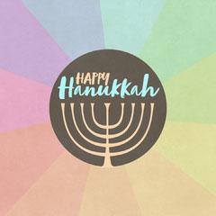 Rainbow Menorah Happy Hanukkah Instagram Square Friends