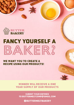 Baking Competition A3 Poster Chef