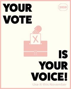 Black & Pink Vote Instagram Portrait Election