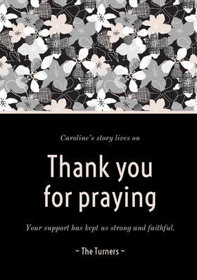 Thank you for praying  Kiitoskortti