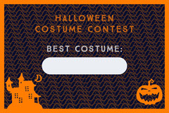 Halloween Haunted Party Costume Card Halloween Costume Contest