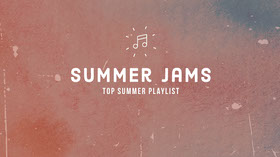 Red Summer Music Playlist Youtube Channel Art  Banner per YouTube