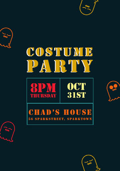 ghost halloween party invitation  Party